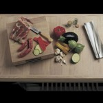 Mobile Kitchen Island with incorporated Compact Barbeque from Gunni