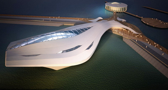 Amphibious Pavilion For 2012 World Expo That Can Sail Away | Fluid