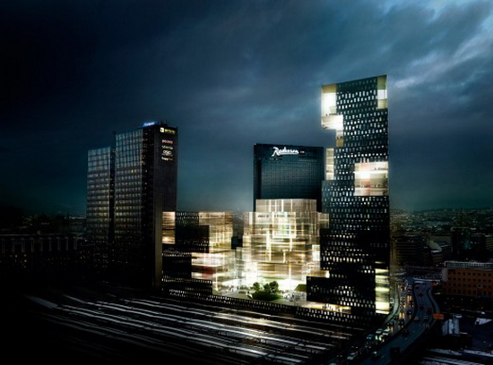 "3 ""Crystal Clear"" Landmark Towers for Oslo Skyline"