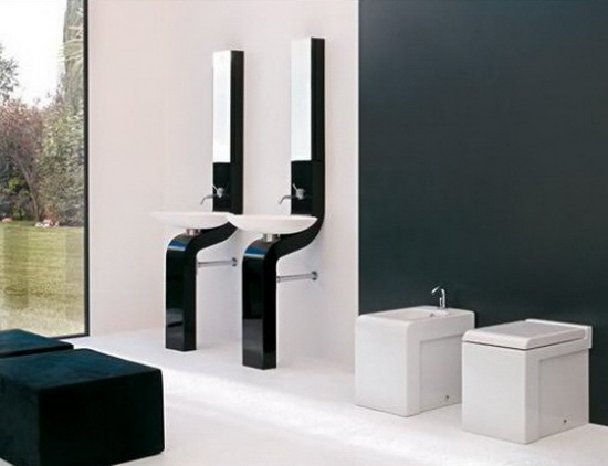 Modern Sink Combos and Bathroom Mirror – by ArtCeram