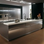 Elektra Plain Steel by Ernestomeda – Contemporary Stainless Steel Kitchen Cabinets –