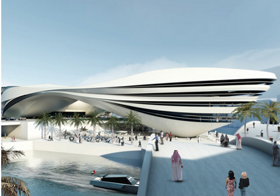 Futuristic Building Plans : Modern Art Museum in Dubai UAE