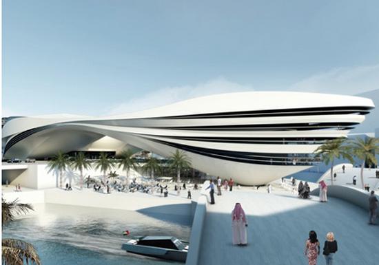Futuristic Building Plans : Modern Art Museum in Dubai UAE