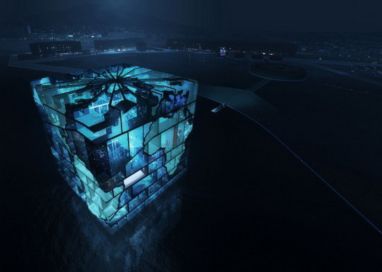 MVRDV | The Water Cube Pavilion For The World Expo 2012