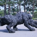 Used Car Tires Made Into Sculptures