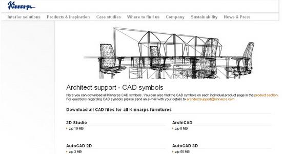 KINNARPS Modelos en 3D gratuitos de parte de fabricante que