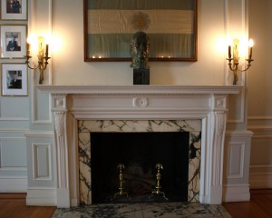 Fireplace with wall scone 300x240 Don't Overlook the Little Things when Redecorating