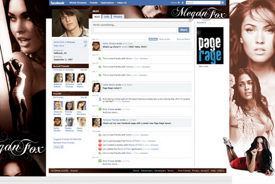 page rager 01 Customize Your Facebook Profile   Free Layouts