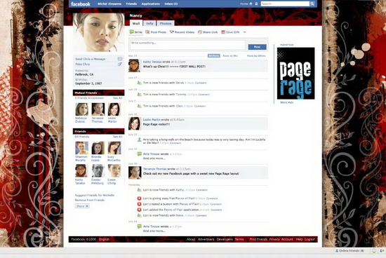 page rager 02 Customize Your Facebook Profile   Free Layouts