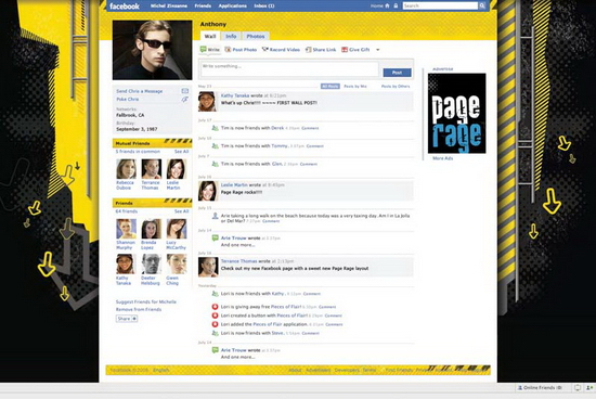 page rager 04 Customize Your Facebook Profile   Free Layouts