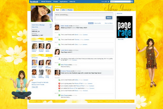 selena gomez Customize Your Facebook Profile   Free Layouts
