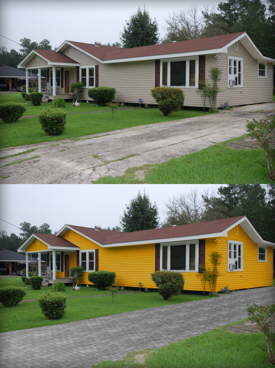Vinyl Siding Main Photoshop Tutorial   Adding Driveway Texture and Changing The Facade Color