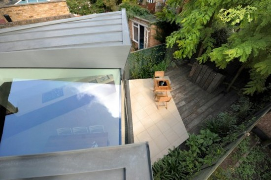 house extension 1 550x366 Modern Extension of Edwardian Terrace House in London