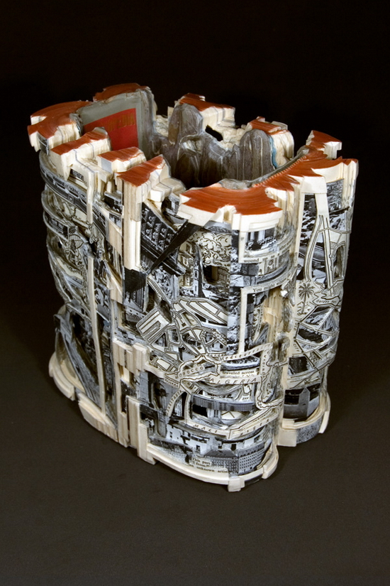 Book Sculpting by Brian Dettmer
