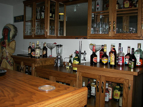 Creating a Home Bar Area