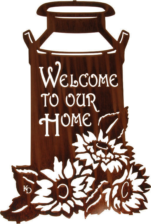 welcome signs Outdoor Decorating with Metal Art