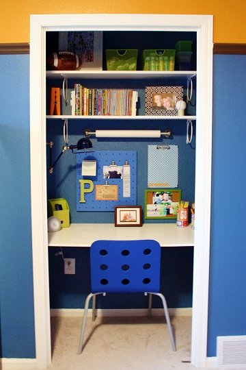 KidsClosetDeskSpace1 Home Office Closets