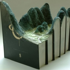 Guy Laramee | Carved Book Landscapes